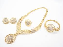 new gold set upward dubai new design women fashion 18k gold plated jewelry set