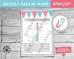 gender reveal spanish crossword puzzle spanish or