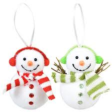 bulk house plush snowman ornaments at dollartree