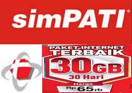 cek kuota telkomsel 30gb paket internet simpati kuota 30 gb hanya 65 ribu menit info