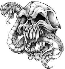 snake skull tattooforaweek temporary tattoos largest temporary