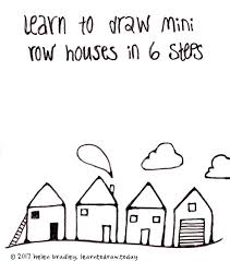 drawing houses learn to draw a row of houses in 6 steps learn to draw