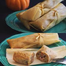 thanksgiving tamales cornbread masa filled with