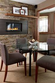 Recessed Electric Fireplace Basement Fireplace Basement Transitional With Tv Mount Over