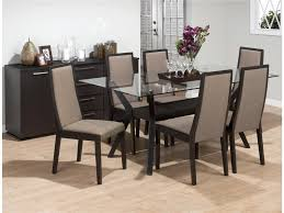 Round Dining Room Sets For 6 by Chair Glass Dining Table Set 6 Chairs Ciov