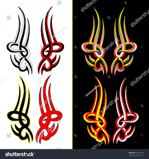 tribal tattoo flames stock vector 272545412 shutterstock