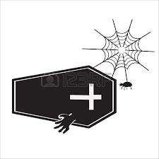 candelabra and spider for halloween symbol vector illustration