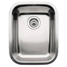 blanco supreme undermount stainless steel 16in 3 4 single bowl blanco supreme undermount stainless steel 16in 3 4 single bowl kitchen sink 440247 the home depot