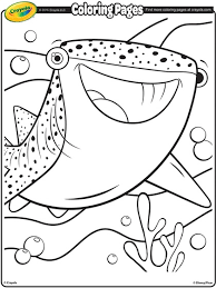 finding dory destiny whale shark coloring crayola