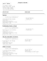 acting resume samples free acting resume templates acting resume