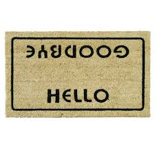 doormat funny rubber cal inc hello welcome goodbye funny doormat reviews
