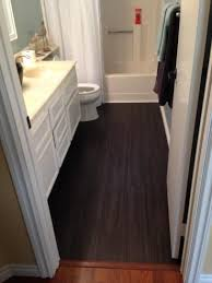 Vinyl Plank Flooring In Bathroom Trafficmaster 6 In X 36 In Iron Wood Resilient Vinyl