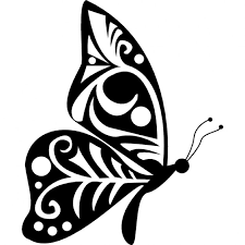 image result for embroidered black and white butterfly designs