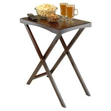 lipper folding tv tray table espresso hayneedle