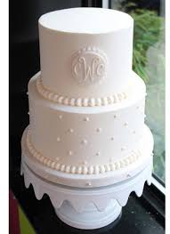cake monograms bakeshop philadelphia monogrammed swiss dot wedding cake