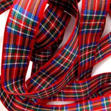 tartan ribbon tartan ribbon royal stewart shop remnant