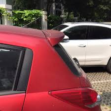 for nissan tiida spoiler high quality abs material car rear wing