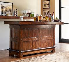 Rustic Bar Cabinet Rustic Ultimate Bar Large Pottery Barn