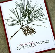 stin up card using ornamental pine