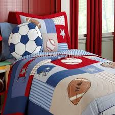 Sports Themed Duvet Covers Football Bedroom Set Hallmart Kids Touchdown Boys Comforter Set