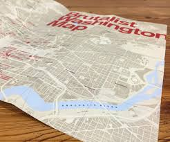 Washington Map by Map Brutalist Dc