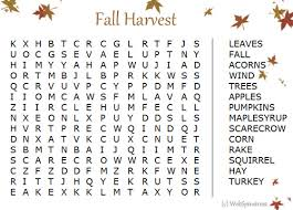 free printable fall word clip art fall word