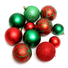 red and green christmas ornaments u2013 happy holidays