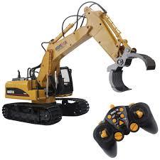 Radio Controlled Front Loader 1 10 Scale Rc Bulldozer Construction Amazon Com Fistone Rc Truck 16ch Fork Excavator 2 4g Remote