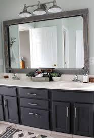 Frame Your Bathroom Mirror Best 25 Frame Bathroom Mirrors Ideas On Pinterest Framed
