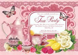 easter tea party tea party invitation ideas