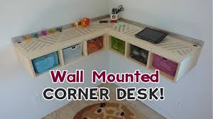 make a corner desk wall mounted corner desk diy wall mounted stand up desk youtube