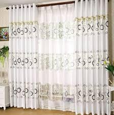 Plain White Curtains The Living Room Curtain Plain White Simple Printed Window