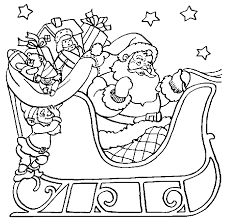 santa claus sleigh coloring pages coloringstar