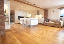 Open Plan Kitchen Living Room Flooring Character Solid Oak Flooring In Open Plan Living Room Living
