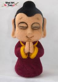 sculpture home decor buddha statue u2013 artist needle felted sculpture u2013 home decor yoga