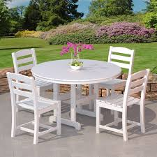 White Patio Dining Sets - furniture yellow outdoor dining set by polywood furniture for