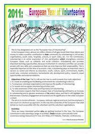 8 free esl volunteering worksheets