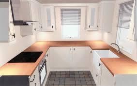 large black white u shaped kitchen decoration small ideas designs