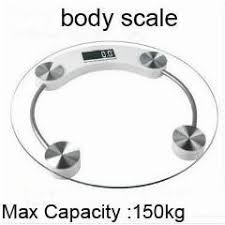 Bathroom Scale Battery Free Electronic Health Scale Body Weight Scale Max 150kg Mini
