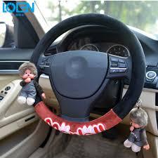 velvet car super soft velvet cute cartoon winnie fur steering wheel cover car