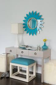 Turquoise Console Table Turquoise Blue Foyer With Gray Console Table Contemporary