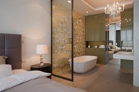 Open Bedroom Bathroom Design by Apartment In Moscow Moscow 2013 Sl Project