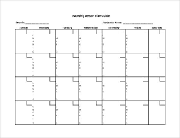 monthly lesson plan template how to create monthly and yearly