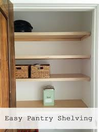 Woodworking Plans Pantry Cabinet Easiest Pantry Or Closet Shelving Ana White Woodworking Projects