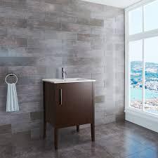 Bathroom Vanities 24 Inches Wide Vigo Maxine 24 Inch Vg09040118k1 Modern Bathroom Vanity Wenge Finish