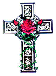 celtic cross u0026 roses temporary tattoo 2 20 jo jewels body