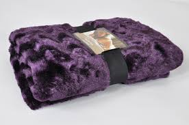 Faux Fur Throw Rugs Luxury Faux Fur Throw Blanket In Purple Lancashire Textiles