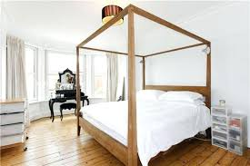 Wood Canopy Bed Frame Canopy Bed Frame Happyhippy Co