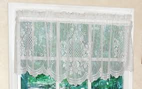 White Lace Valance Curtains Cameo Rose Lace Valance Curtain Curtain U0026 Bath Outlet