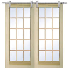 Glass Interior Doors Home Depot by 72 X 80 Barn Doors Interior U0026 Closet Doors The Home Depot